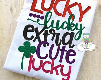 Girl St Patricks Day Shirt or Bodysuit, Girl St Patricks Day, Girl Shamrock Shirt, Girl St Patty's Day Shirt, St Patricks