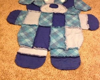 Puppy Dog -Rag Quilt/Wall Hanging/Rug