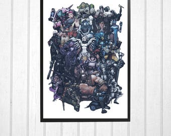 Overwatch 24 character poster