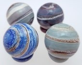 Handmade Glass Marble - Marbled! 20-22mm