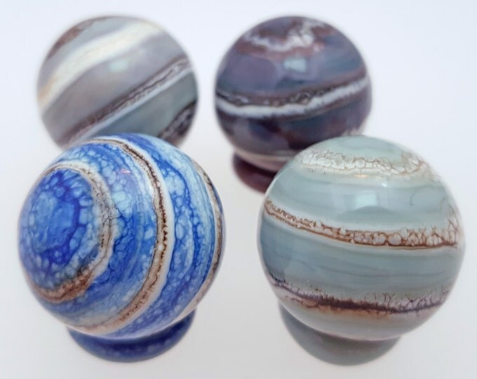 Featured listing image: Handmade Glass Marble - Marbled! 20-22mm