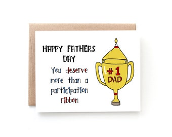 The Dad Award - Happy Fathers Day Card