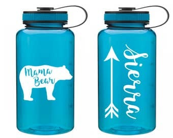 Mama Bear Water Bottle // Mama Bear // Mama Bear Bottle // Tribal Water Bottle // New Mom Gift // gift for mom // Mama Bear Cup // Papa bear
