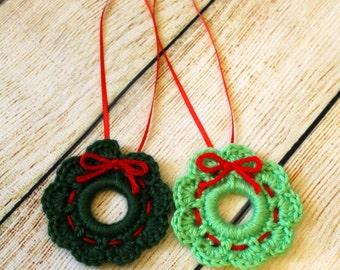 Christmas Wreath Ornament, Christmas Tree Ornament, Winter Holiday Decoration, Christmas Decoration, Christmas Ornament, Holiday Wreath
