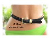 thin leather Belt, black leather belt - Women's leather belt, skinny black belt, thin black belt, black belt, # 17