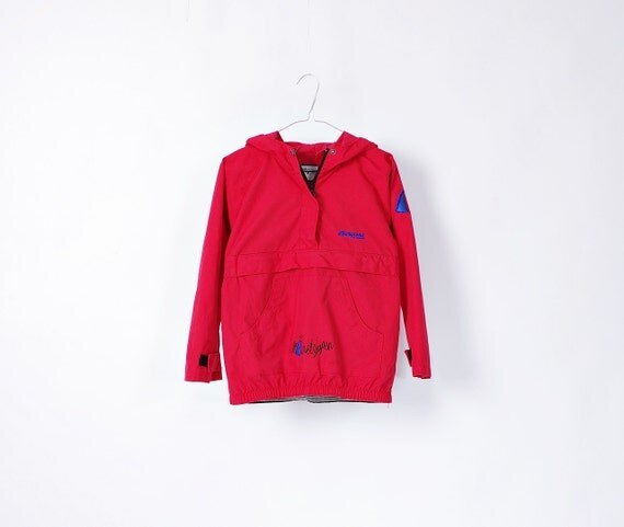 SALE 50% OFF - Vintage Bergans of Norway Gnome Hood Kids Outdoor Jacket / Size 10 Years