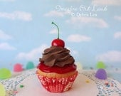 Fake Cupcake Faux Chocolate Cherry Cordial Valentine's Day