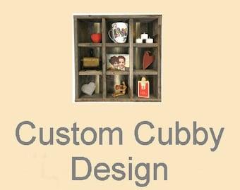 Custom Reclaimed Wood Cubby Design
