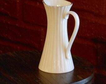 Lenox Fluted 5 1/2 inch Porcelain Pitcher Vase