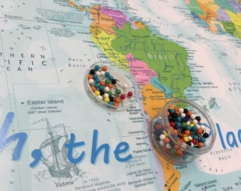 Oh The Places Youll Go World Map Kids World Map Use - Childrens us pushpin map