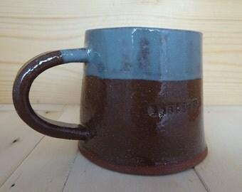 Handmade Bostin' pottery mug, black country mug, pottery cup, ceramic mug, hand built mug