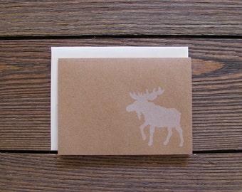 Moose Letterpress Card FREE SHIPPING