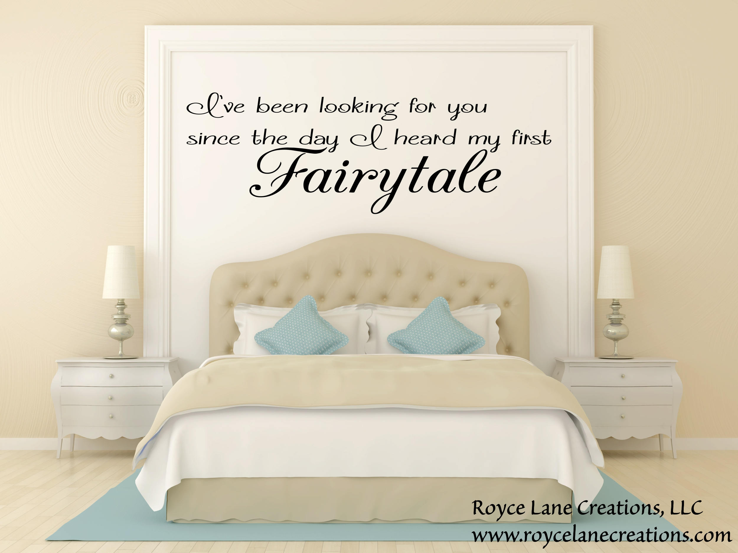 Romantic Bedroom Wall Decals fairytale quote-romantic bedroom wall decal