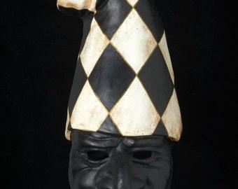 Venetian Mask | Pulcinella Black and White