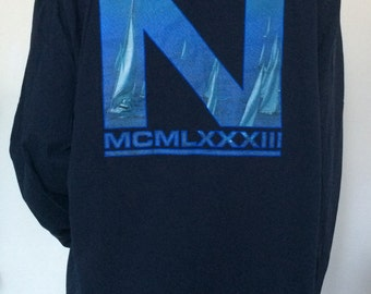 Nautica Blue Long Sleeve Shirt