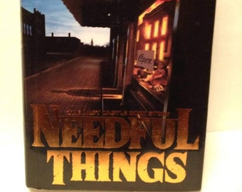 Stephen King NEEDFUL THINGS 1991 First Edition Viking Hardcover Horror Books