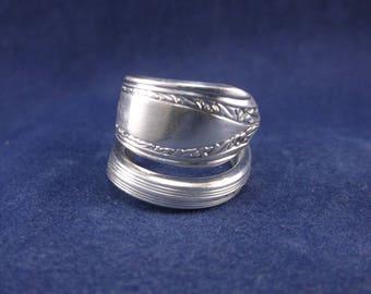 "Silver Spoon Ring- 1939""Lyric""- Vintage Handmade-Spoon Jewelry size 7."