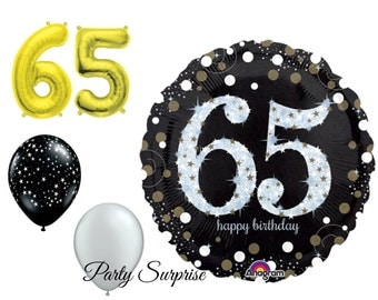 65th Birthday Balloons 65 Balloons 65 Party 65th Birthday Party Balloon Package