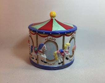 Vintage Carousel Cookie Jar