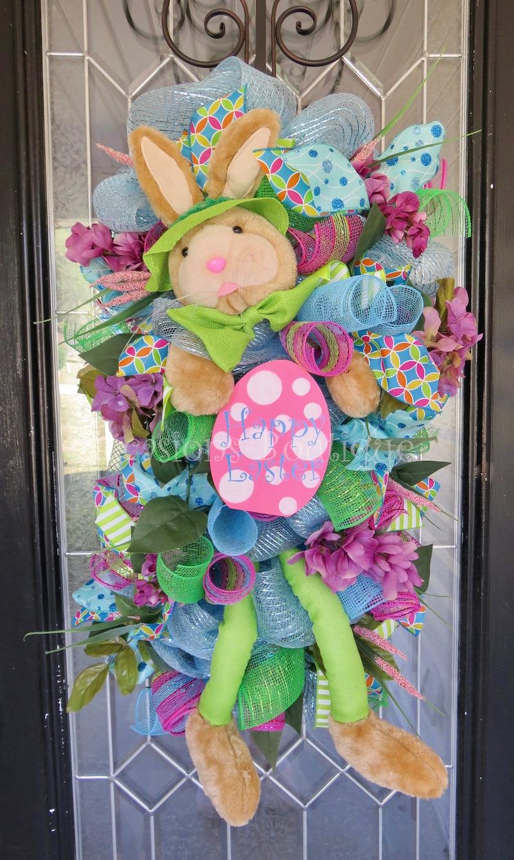 Easter Wreath Easter Door Swag Spring Wreath Front Door