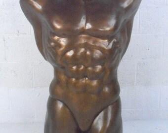 Lifesize Sculpted Bronze Bodybuilder Statue (1107)RJ