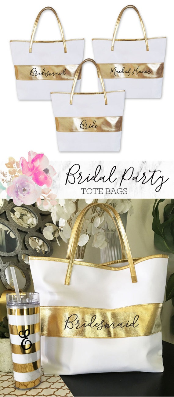 Wedding Gift Ideas Days Out : Bridesmaid Bags Bridesmaid Tote Bag Bridal Party Tote Bags for