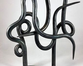 Abstract Metal Sculpture. Abstract sculpture. Forged iron. Hand Forged Sculpture.