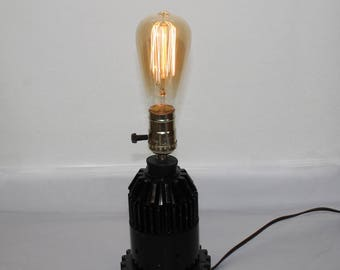 Industrial Machine Age Steampunk Gear Lamp PLUS BULB