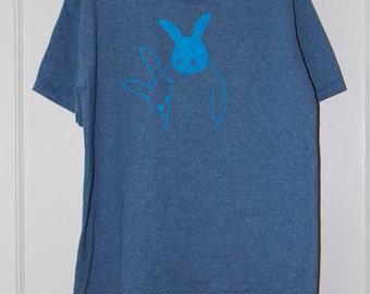 blue/blue bunny t