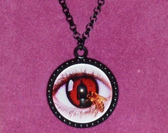 Candyman Inspired Black Cameo Necklace