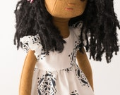 Handmade Rag Doll with Wardrobe