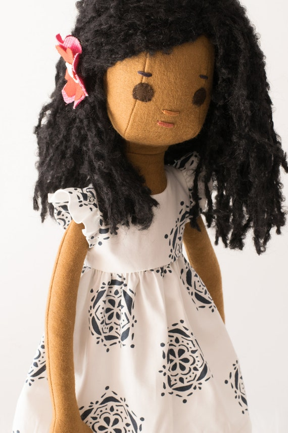 Handmade Rag Doll with Wardrobe