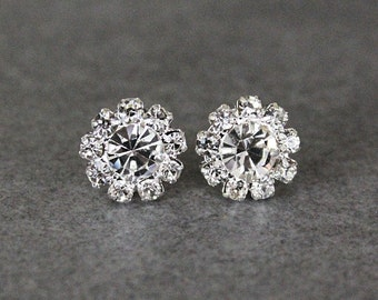 Rhinestone Stud Earrings, Rhinestone Earring, Bridesmaid Earrings, Crystal Earrings, Crystal Post Earring, Bride Earrings, Bridal Earrings