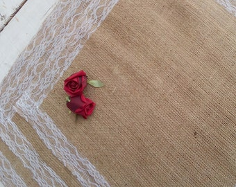 """Table Toppers - Burlap Table Toppers -  Wedding Squares - Table Centerpiece - 12"""" x 12"""" - Bridal Shower Decor - Set of 12"""