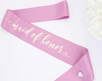 Bridal Party Sashes - Maid or Matron of Honor Boxed Sash