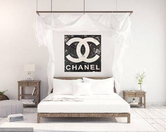 Chanel Art Coco Chanel Logo by Matt Pecson Pop Art Painting Canvas Wall Art Gifts for Her Best Selling Items Bedroom Wall Art MADE TO ORDER