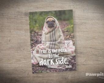 Yoda Pug Journal - Star Wars Journal - Pug Notebook - Yoda Journal - Star Wars Rogue One Gift - Star Wars Gift - Yoda Journal - Star Wars