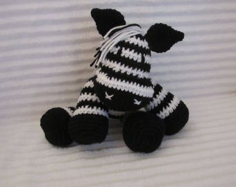 Crochet Zebra Stuffed Animal Crochet Animal, Zebra Plush, Stuffed Zebra, Zoo Nursery, Safari Nursery, Stuffed Animal, Amigurumi, Zebra Toy
