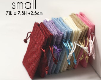50 (Small) Nylon Drawstring Pouches - for Craft, Jewelry, Necklace, Earrings - Wedding Favors, Gifts Packaging