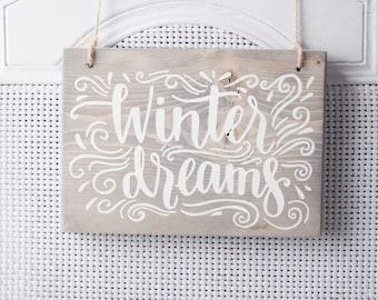 Winter Dreams, White Christmas, White Christmas Decor, Holiday Decor, Christmas Decor, Winter Decor, Snow Decor, Holiday Wall Art