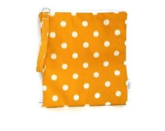 Yellow polka dot wet bag, wet dry bag