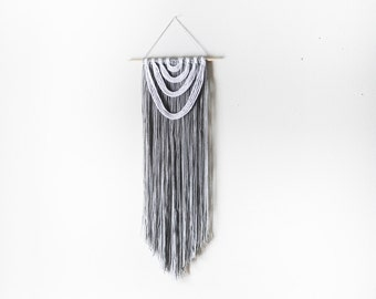 Handmade Gray and White Wall Hanging