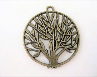 Jewelry Supplies ~ Tree of Life  Pendant   Antique bronze   Large
