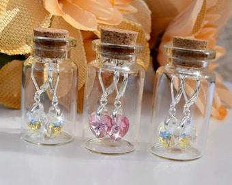 Swarovski Crystal Heart Earrings/Dangle Earrings