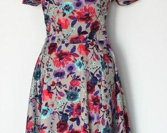 Women Full Circle Bloom Dress/Women Garden Party Dress/Woman Rehearsel Dinner Dress/Romantic Women Dress/Ready to wear Women Dress