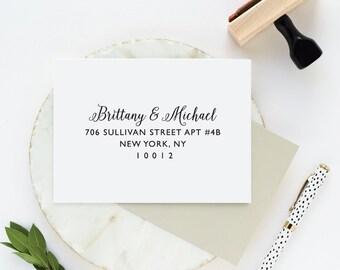 RSVP Envelope Address Stamp, RSVP Return Address Stamp, Address Stamp, Wedding Address Stamp, Return Envelope Address, Envelope Stamp