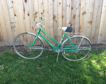 Vintage Sears Bike in Green with Chrome Accents