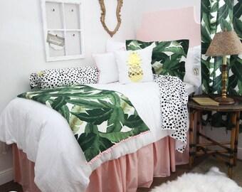 Delightful Solid Pastel Blush Pink Dorm Room Extended Length 34 Part 3