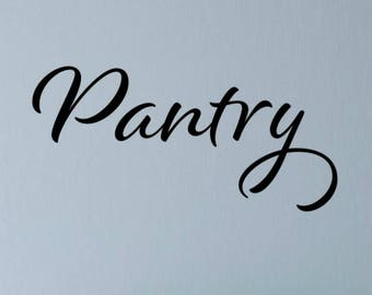 Pantry Door Decal Pantry Decal Pantry Wall Decor Kitchen Pantry Decal Pantry Sticker Kitchen Wall Decal Pantry Vinyl Decal Kitchen Vinyl