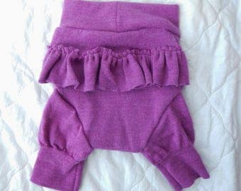 Bold Lilac Ruffle-bum Shorties - MEDIUM